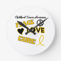 Childhood Cancer Awareness Round Clock