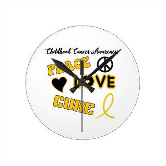 Childhood Cancer Awareness Round Clock