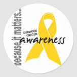 Childhood Cancer Awareness Round Stickers