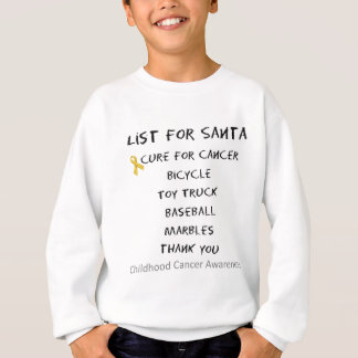 Childhood Cancer Awareness Santa List Boys Sweatshirt