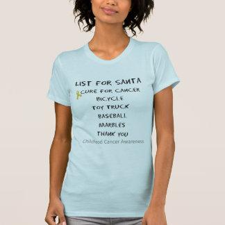 Childhood Cancer Awareness Santa List Boys T-Shirt
