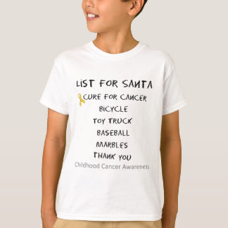 Childhood Cancer Awareness Santa List Boys T-Shirt