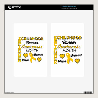 Childhood Cancer Awareness Skin For Kindle Fire