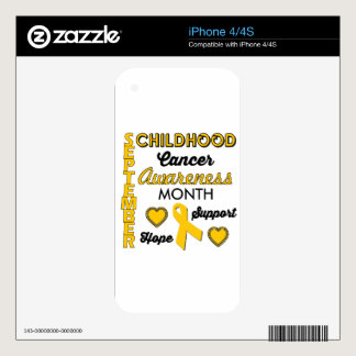 Childhood Cancer Awareness Skin For The iPhone 4S