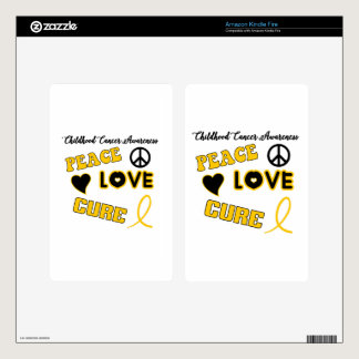 Childhood Cancer Awareness Skins For Kindle Fire