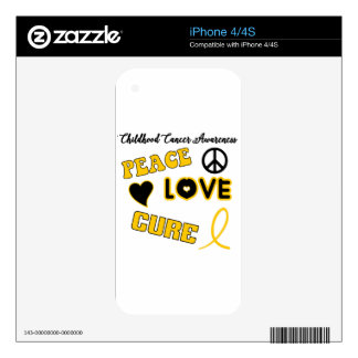 Childhood Cancer Awareness Skins For The iPhone 4S