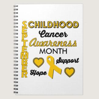 Childhood Cancer Awareness Spiral Notebook