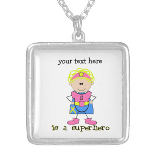 Childhood Cancer Awareness Square Pendant Necklace