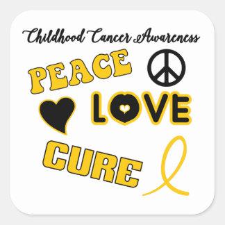Childhood Cancer Awareness Square Sticker