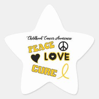 Childhood Cancer Awareness Star Sticker