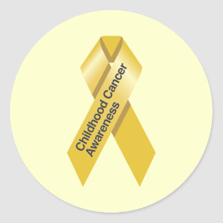 Childhood Cancer Awareness Stickers