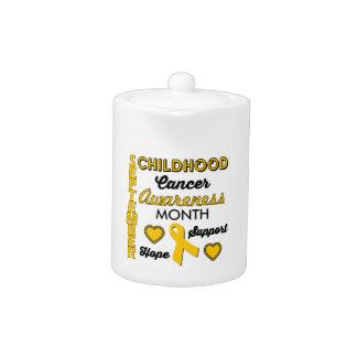 Childhood Cancer Awareness Teapot