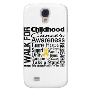 Childhood Cancer Awareness Walk Galaxy S4 Cases