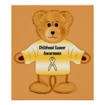 Childhood Cancer Awareness with Teddy Bear Poster