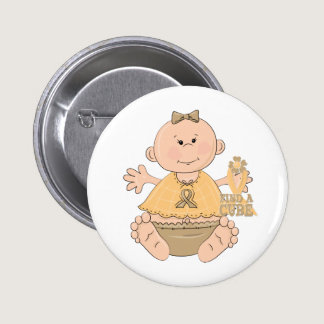 """Childhood Cancer """"Baby Girl"""" Pinback Button"""