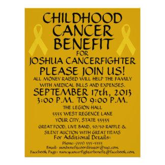 Childhood Cancer Benefit Flyer