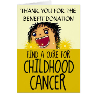 Childhood Cancer Benefit Thank You Stationery Note Card