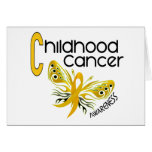 Childhood Cancer BUTTERFLY 3.1 Greeting Cards