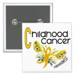 Childhood Cancer BUTTERFLY 3.1 Pins