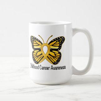 Childhood Cancer Butterfly Awareness Ribbon Coffee Mug