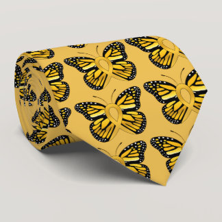 Childhood Cancer Butterfly Awareness Ribbon Neck Tie