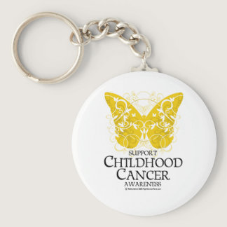 Childhood Cancer Butterfly Keychain