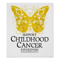 Childhood Cancer Butterfly Poster