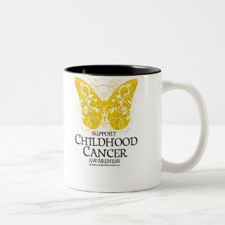 Childhood Cancer Butterfly Two-Tone Coffee Mug