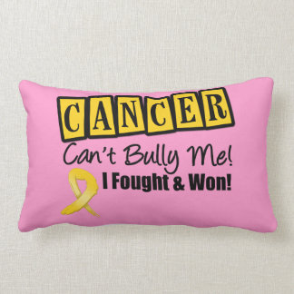 Childhood Cancer Can't Bully Me...I Fought I Won Throw Pillow