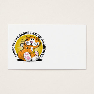 Childhood Cancer Cat Business Card