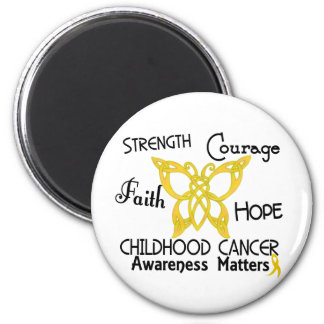 Childhood Cancer Celtic Butterfly 3 2 Inch Round Magnet
