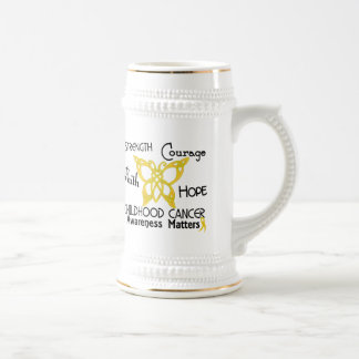 Childhood Cancer Celtic Butterfly 3 Coffee Mugs