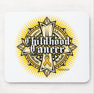 Childhood Cancer Celtic Cross Mouse Pad