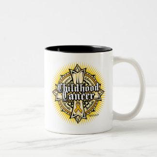 Childhood Cancer Celtic Cross Two-Tone Coffee Mug