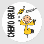 Childhood Cancer CHEMO GRAD 1 Sticker