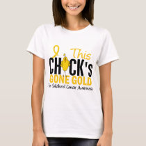 CHILDHOOD CANCER Chick Gone Gold T-Shirt