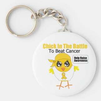 Childhood Cancer Chick In the Battle Key Chain