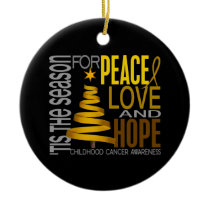 Childhood Cancer Christmas 1 Ornaments