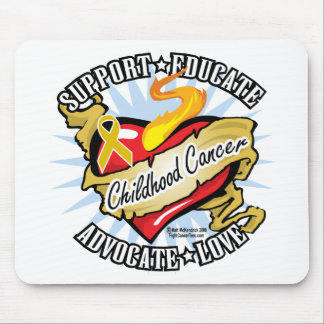 Childhood Cancer Classic Heart Mouse Pad