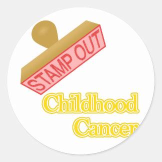 Childhood Cancer Classic Round Sticker