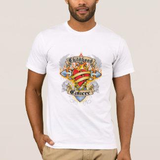 Childhood Cancer Cross & Heart T-Shirt