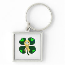 Childhood Cancer DOES NOT Discriminate! Keychain