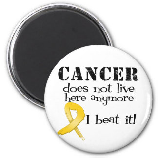 Childhood Cancer Does Not Live Here Anymore 2 Inch Round Magnet