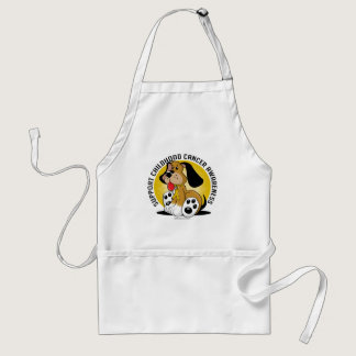 Childhood Cancer Dog Adult Apron