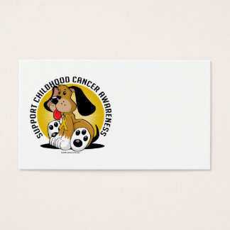 Childhood Cancer Dog Business Card