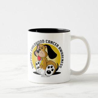 Childhood Cancer Dog Two-Tone Coffee Mug