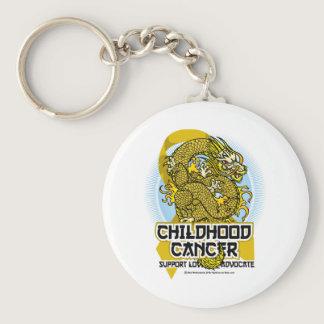 Childhood Cancer Dragon Keychain