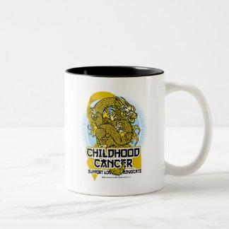 Childhood Cancer Dragon Two-Tone Coffee Mug