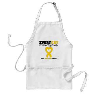 Childhood Cancer Every Day I Miss My Brother Apron