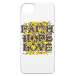 Childhood Cancer Faith Hope Love iPhone 5 Cover